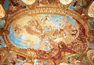 Fresco on the vault of the Hall of the Ancestors – the Apotheosis of the Althanns