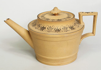 Teapot with painted decoration